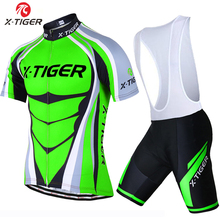 X-Tiger Flour Green Maillot Cycling Jersey Bicycle Wear Ropa Ciclismo Rock Bicycle Uniform MTB Bike Clothing Cycling Clothes(China (Mainland))