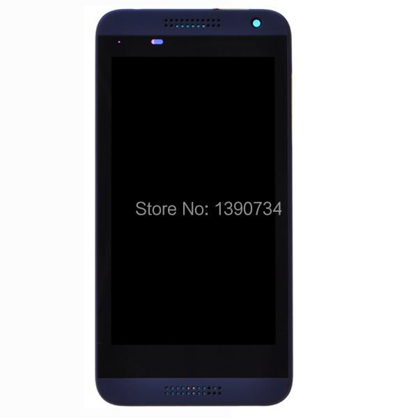 100% хорошем рабочем синий полный жк-дисплей с сенсорным экраном digitzer сборки с рамкой для htc desire d610 610 с логотипом замена