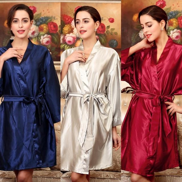 Yt009 летние сексуальные шелковые атласном платье халат халаты для женщин идеальный ...