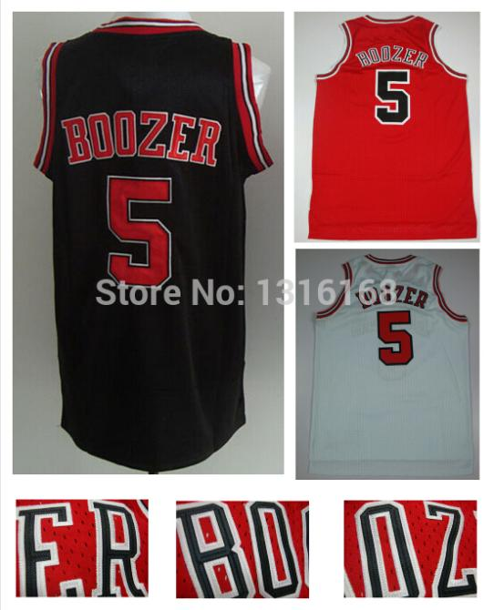Wholesale #5 Carlos Boozer Jersey Chicago Rev 30 New Meterial Black Red White Basketball Fashion All Stitched Fast Free Shipping(China (Mainland))