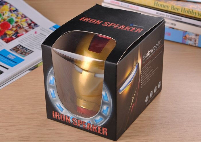 15pcs/lot Cool Fashion The Avengers Ironman bluetooth portable speaker SD card or USB card mp3 player with AUX in with FM radio(China (Mainland))