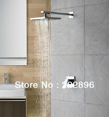 Free Shipping Copper Chrome Bathroom Rainfall Shower Set Shower Faucet Bath Hot And Cold Mixer Tap Torneira Bathroom Chuveiro(China (Mainland))