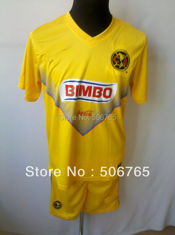 New Arrivals club America 13/14 home soccer jerseys soccer kit Original Logo football uniforms soccer wear Free shipping!(China (Mainland))
