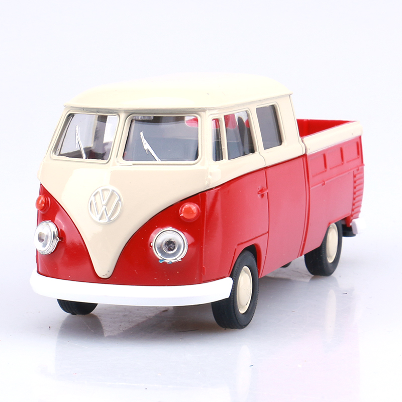 Welly cool 1:36 mini classic Volkswagen T1 bus pickup truck alloy model car toy birthday gift Free Shipping(China (Mainland))