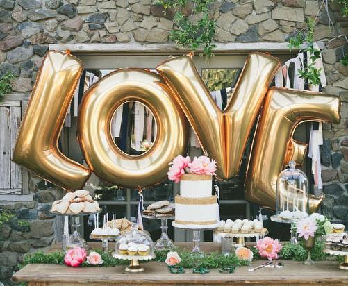 "4pcs/lot 40"" Large Gold /Silver LOVE Aluminum Foil Balloon Wedding Festival Decoration Ballons Valentine Anniversary Balloons(China (Mainland))"