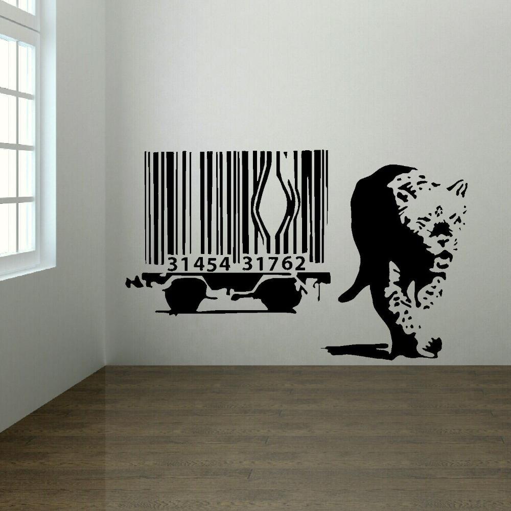 stickers muraux banksy achetez des lots 224 petit prix banksy vinyl wall decal monkey with headphones colorful