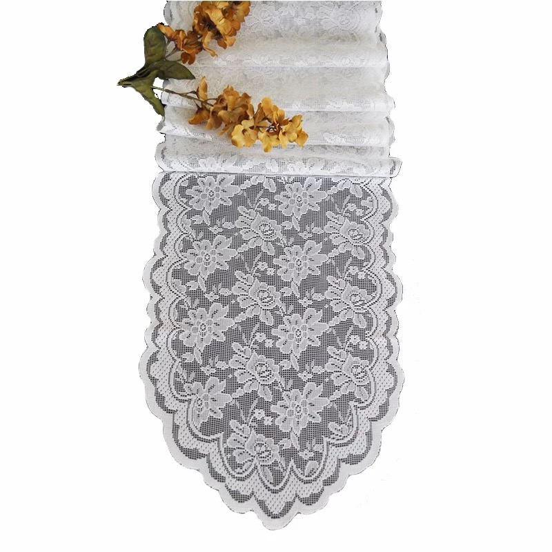 "Free Shipping 10 PCS 108""x14"" Dining Table Runner Lace Cotton Hand Block Printed White Black Table Runner 15 colors(China (Mainland))"