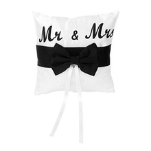 Buy Mr & Mrs Satin Ribbon Bow Bowknot Wedding Ring Pillow Pearl Cushion Embroider Ring Pillow Matte Satin Wedding Ring Pillow for $6.86 in AliExpress store