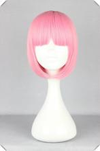 Розовая Краска Для Волос Женщин Короткий Боб Perucas Косплей Волнистые Sexy Party Прическа Парики Розовая Краска Для Волос(China (Mainland))