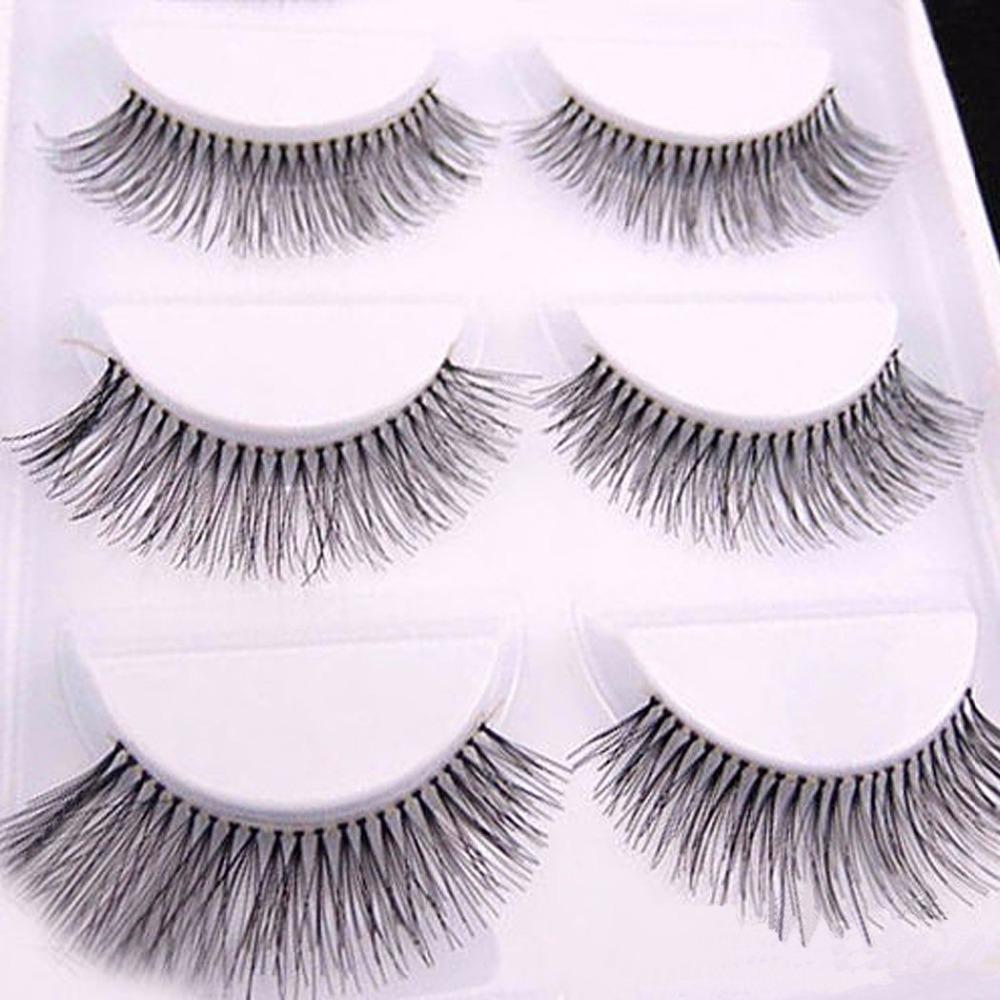 10 Pieces/1 set Natural Sparse Cross Eye Lashes Extension Makeup Long False Eyelashes MX(China (Mainland))