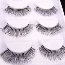 10 Pieces/1 set Natural Sparse Cross Eye Lashes Extension Makeup Long False Eyelashes MX(China (Mainland))