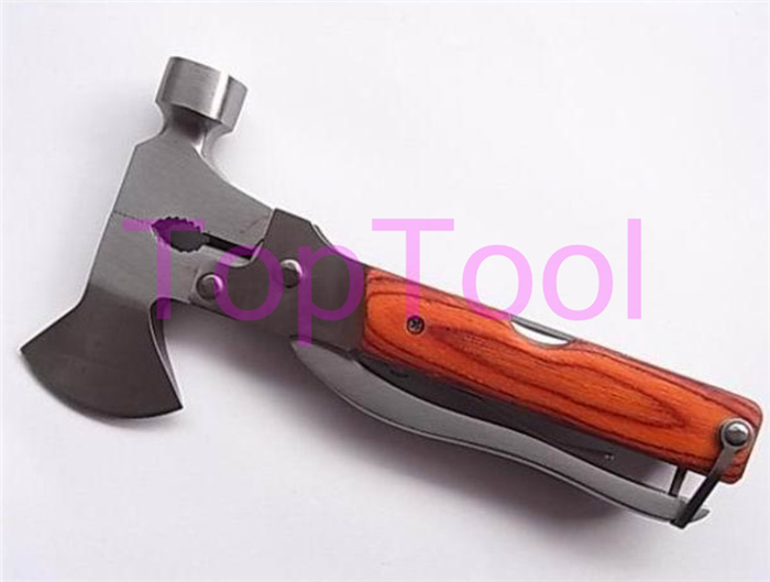Multi functional Folding Axe Hammer Camping Axe Hiking Saw Knife Rescue knife Military Hunting Knife Tool