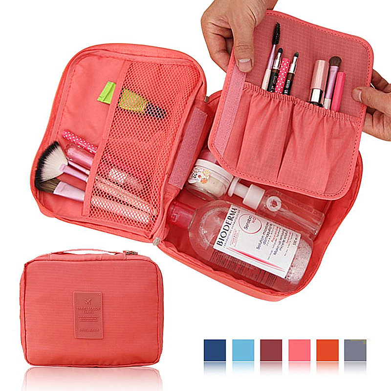 New Arrival Ver.2 Travel Necessity Toiletry kits Makeup Organizer Women's Cosmetic Bag Storage Pouch For UnderwearTowel(China (Mainland))