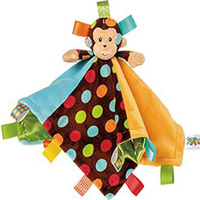 0+ Baby  Kids Toy  Super Soft Plush Appease Toys  Monkey doll  Handkerchief With Rattles