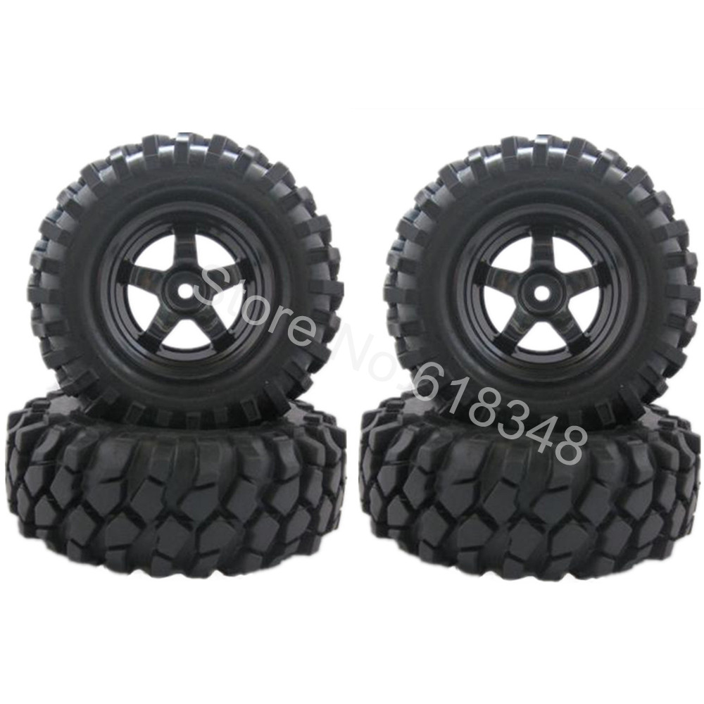 4pcs 96mm Rubber 1.9 inch RC Crawler Tires Tyre & Wheel 12mm For 1/10 RC Rock Racer Car HSP Pangolin Redcat Himoto HPI Buggy(China (Mainland))