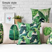 European green leaves pillows cushions