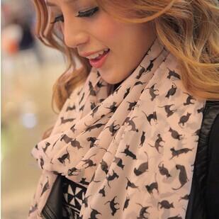 2014 NEW Fashion Trendy Cozy Women Ladies Noble Women's Scarf Shawl Neckerchief Muffler Designs Sexy Cat Scarves(China (Mainland))