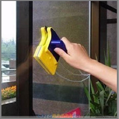 LS4G 2014 New Useful Magnetic Window Cleaner Double Side Glass Wiper Useful Surface Brush(China (Mainland))
