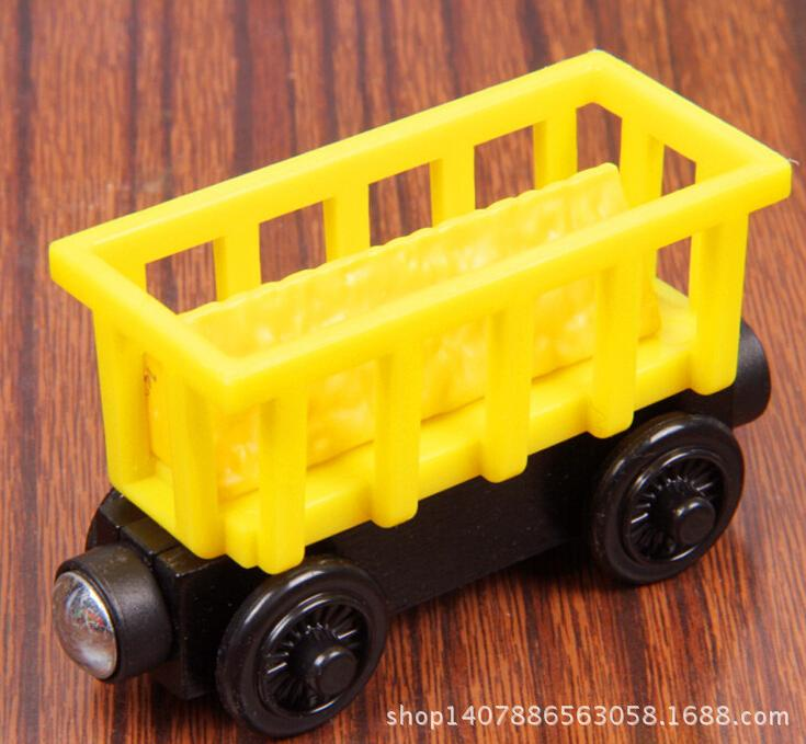 Wood Train Toy Thomas And Friends Magnetic Wooden Model Yellow Carriage Train Carriage Kids/Child Gift Christmas Gift(China (Mainland))