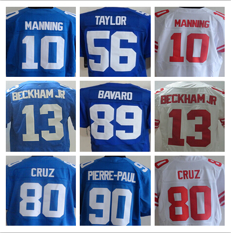 Odell Beckham Jr Jersey 13 NY Elite Giants Jersey 10 Eli Manning American Football Jersey can mix order(China (Mainland))
