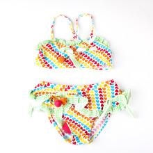 A Child Kids Swimming Suit Costume Swimwear Swimsuit Maios E Biquini Bikini Meias Infantil Two Pieces
