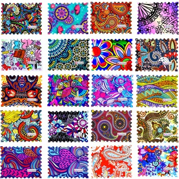 1 Sheet 2017 New Fashion Colorful Full Cover Stamp Nail Sticker Nail Art Water Transfer Decals for DIY Nail Decor