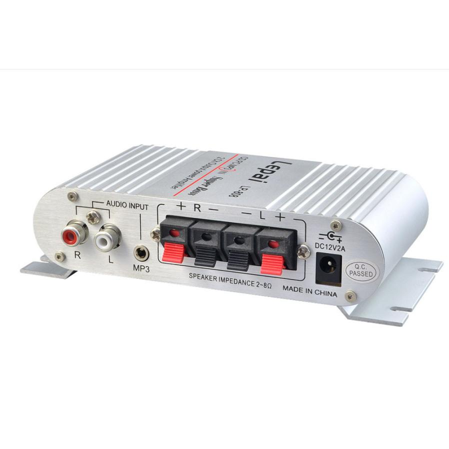 New Arrival Mini Hi-Fi Audio Stereo Amplifier 12V 20W X2 RMS Amp For Home Car SL(China (Mainland))
