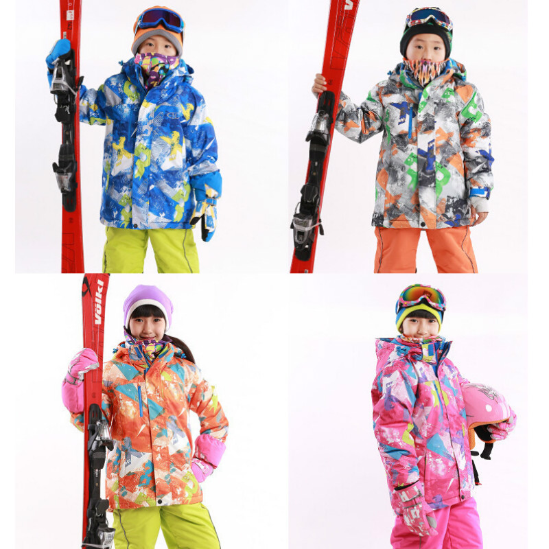 2016 Winter Outdoor Children's Skiing Jackets Snowboarding Coat Kids Sports Mountaineering Clothing Boys And Girls Ski Jacket(China (Mainland))