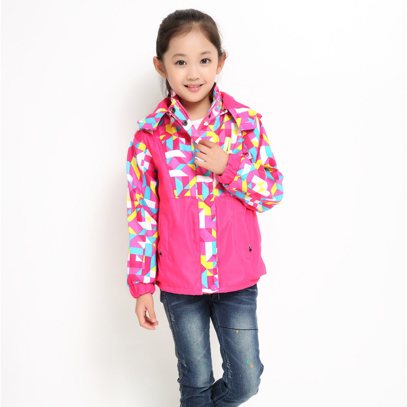Children wear 2016 spring and autumn outdoor travel mountaineering waterproof breathable jacket girls cardigan jacket girls coat(China (Mainland))