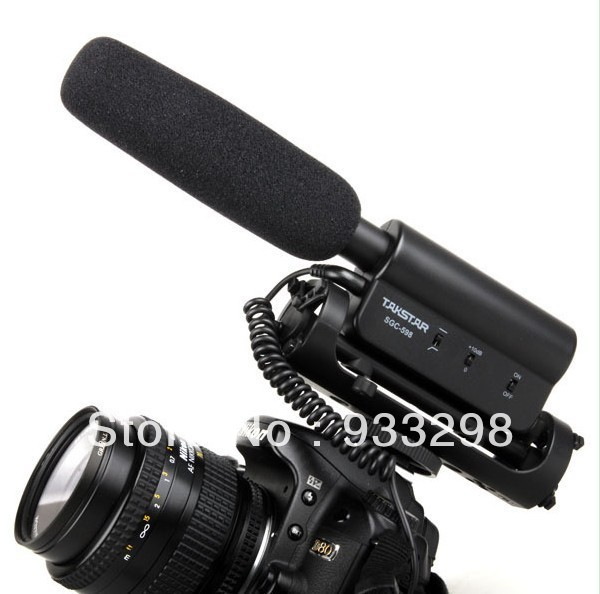 new TAKSTAR SGC-598 photography interview microphone Photography Mike SLR camera phone Mike for canon 5D2 7D 60D T3i SGC598 DV(China (Mainland))