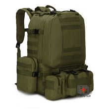 Army Green Sports Outdoor Military Tactical Backpack Travel Bags High Quality Camping Bag Hiking Trekking Bagpack(China (Mainland))
