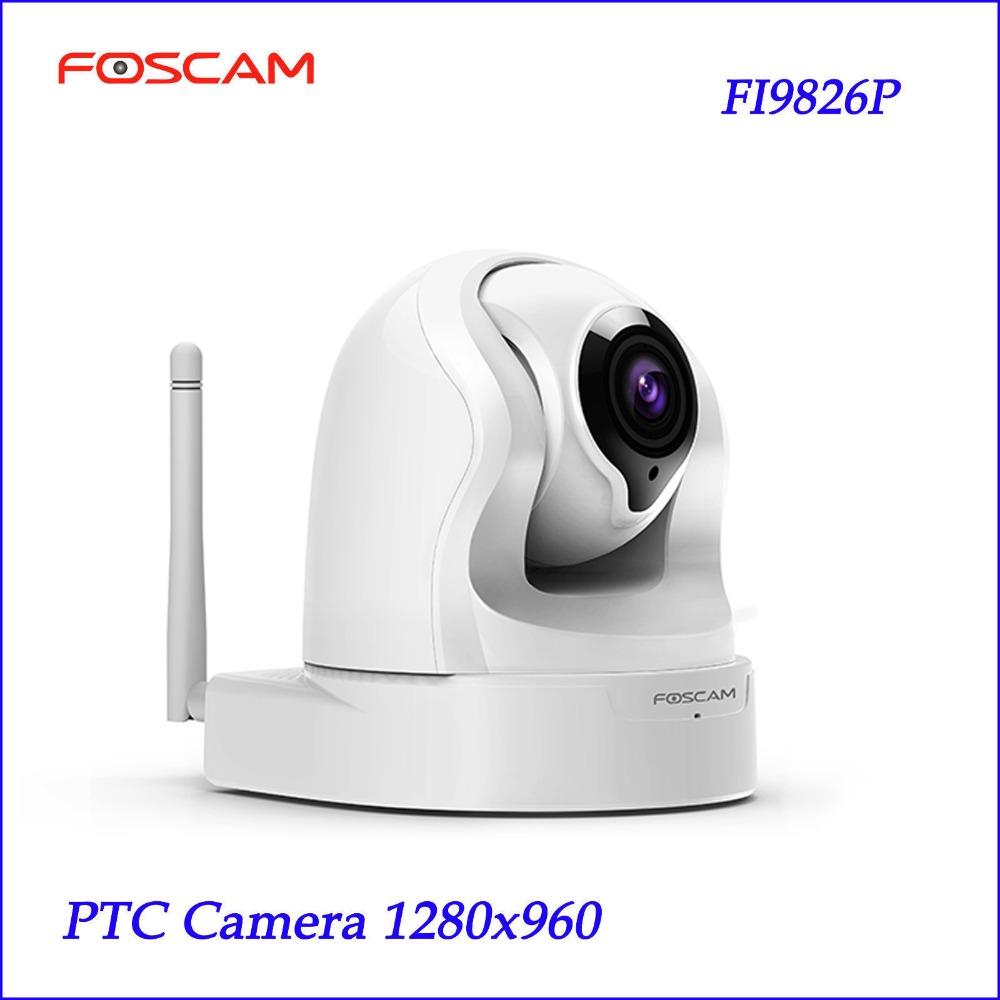Foscam FI9826P H.264 3X Optical Zoom 960P 1.3 Megapixel HD Pan / Tilt / Zoom white Surveillance Camera security PTZ Camera(China (Mainland))