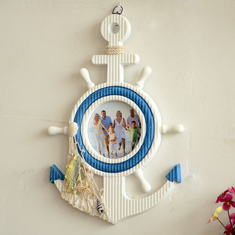 Wooden anchor mediterraneo vintage wall nautical home for Where can i buy nautical decor