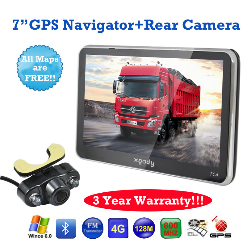 BRAND XGODY 7 inch Car Mirror GPS Navigation Bluetooth AV-IN Sat Nav+wireless Rear View Camera GPS Navigator GPS(China (Mainland))