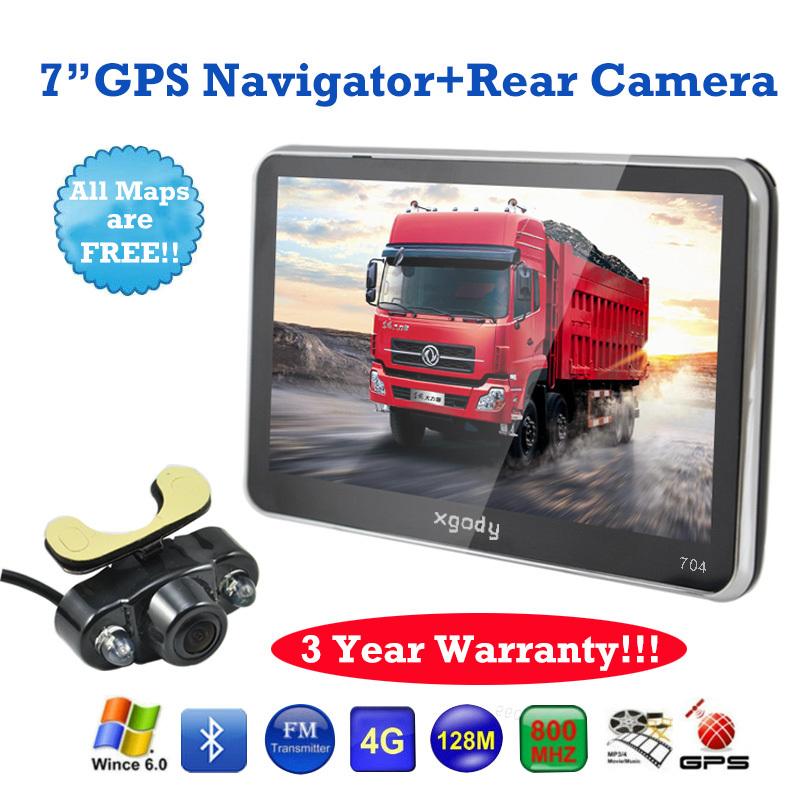 BRAND XGODY 7 inch Car Mirror GPS Navigation Bluetooth AV-IN Sat Nav+wireless Rear View Camera GPS Navigator GPS(China (Mainland))