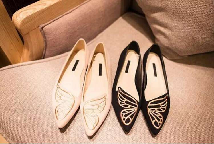 Fashion Butterfly Shoes Woman Flat Oxford Shoes For Women Black Pink Slip On Loafers Luxury Designer Shoes Ladies Flat Shoes (19)