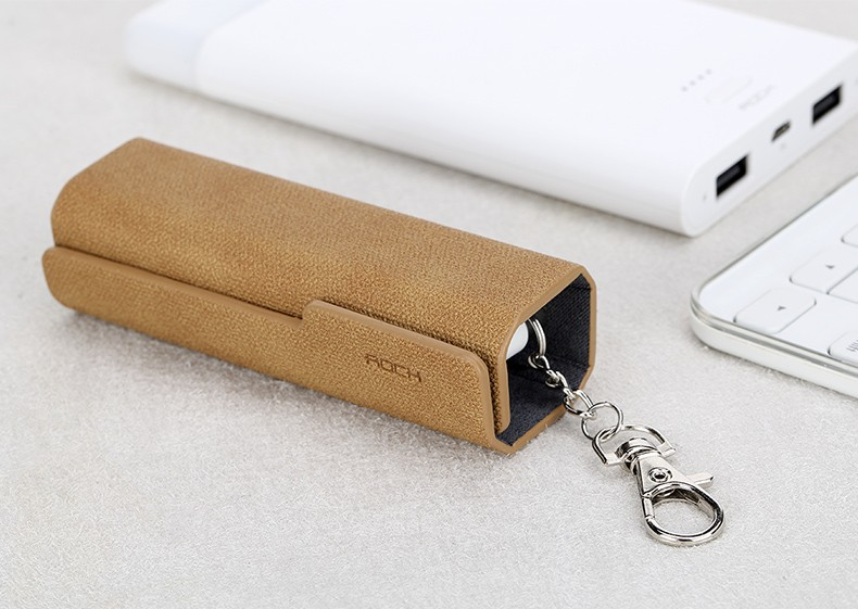 ROCK 3-in-1 3.0A MAX charging cable for keychain PU leather case+key chain ring for all phone
