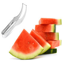 Free Shipping Watermelon Slicer Cutter Fruit Cutters Stainless Steel Knife Corer  Splitter Fruit Slicer Cantaloupe Watermelon(China (Mainland))