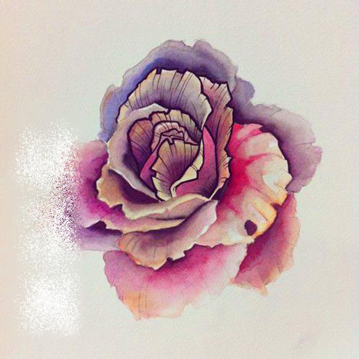 Achetez en gros tatouages de fleurs l 39 aquarelle en ligne for Aquarelle fleurs livraison gratuite