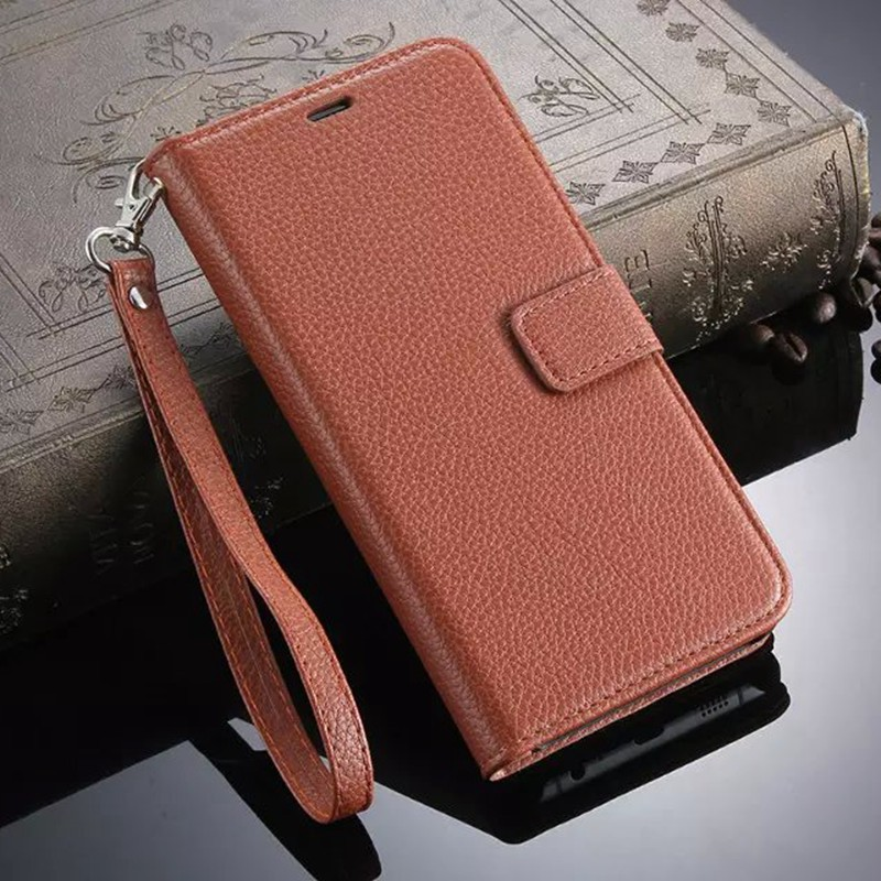 Lanyards Phone Bags Case For Samsung Galaxy S6 Edge Plus Flip Cover Luxury Litchi Leather Wallet Case For Samsung S6 Edge Plus(China (Mainland))