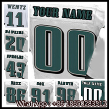 Men's #11 Carson #20 Brian #43 Darren #91 Fletcher #98 Connor Men's Black Green White Football Jersey 100% Stitched with Custom(China (Mainland))