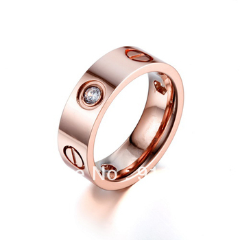 Timeless 18K Rose Gold Stone Ring,Elegance Series Jewelry,Insert Clear Zircons,Bless Your Heart For One Life,Finest Gift For Her
