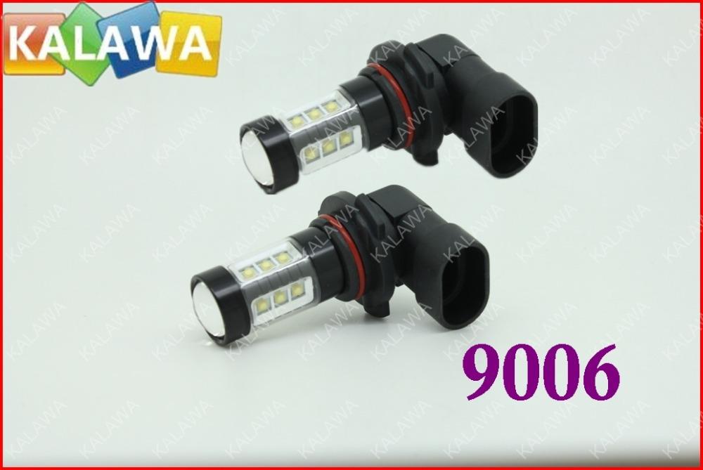 1 pair 80W fog light 9006 6000k car HeadlampBlack Metal TYPE OSRAM chipset high power led lamp DC12-24V FFF FREESHIPPING(China (Mainland))