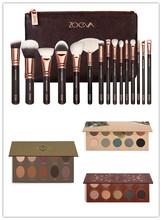 In stock  ZOEVA 15 PCS ROSE GOLDEN COMPLETE MAKEUP BRUSH SET Professional Luxury Set Make Up Tools Kit Powder Blending brushes(China (Mainland))