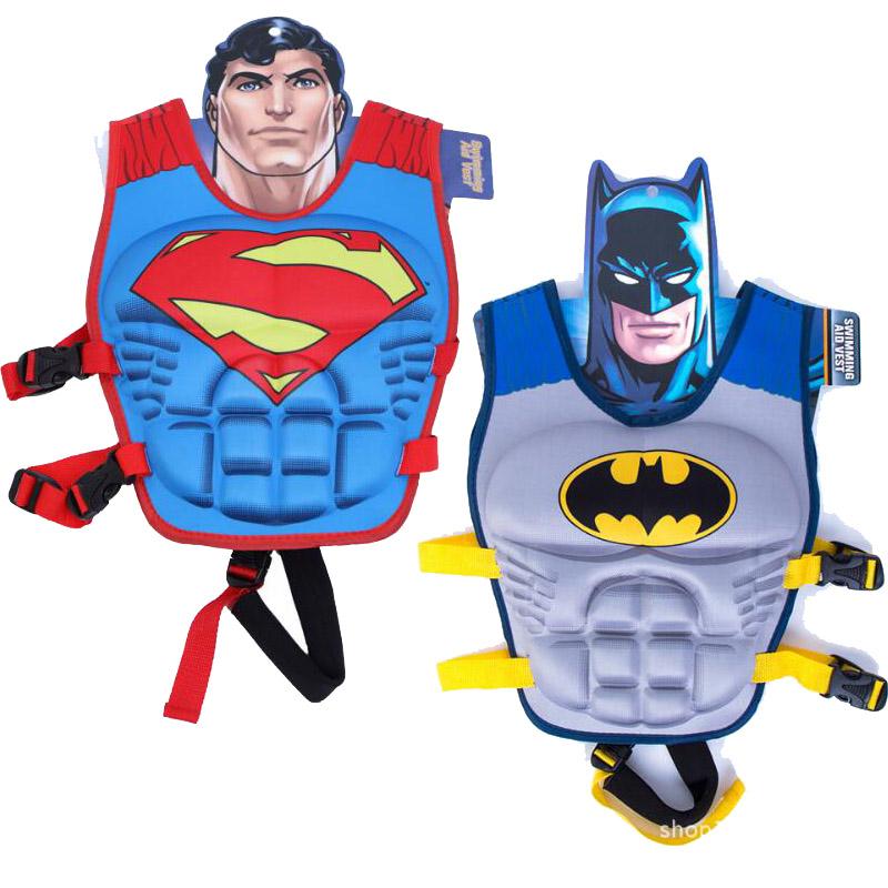 kids life jacket vest Superman batman spiderman swimming baby boys girls fishing superhero swimming circle pool accessories ring(China (Mainland))
