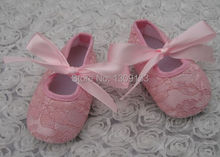 lace baby shoes toddler girl shoes cream girls Christening shoes Baptism baby shoes first walker(China (Mainland))
