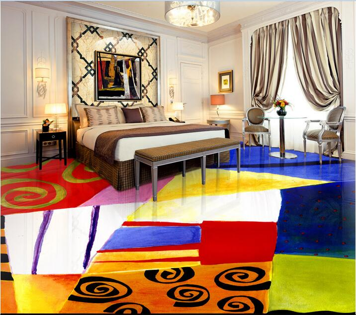 Custom photo 3d flooring mural self - adhesion picture wall sticker Abstract design painting 3d room murals wallpaper(China (Mainland))
