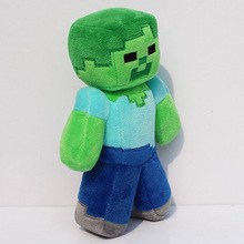 2016 Luxury Minecraft Plush Toys 18CM Green Zombie Soft Plush Stuffed Toys Brand Plush Dolls Kids Favor Gift For Boys Child(China (Mainland))