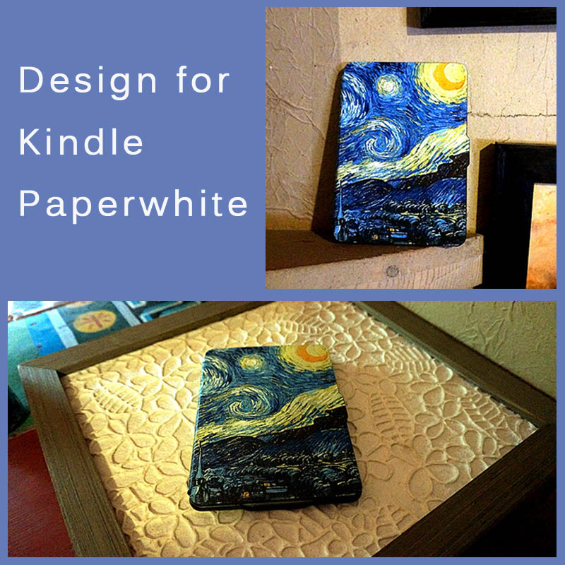 Vincent van Gogh,The Starry Night,The Thinnest and Lightest Leather Cover for All-New Amazon Kindle Paperwhite<br><br>Aliexpress