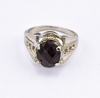 wholesale Price!free shipping Man Jewelry Silver Plated Big Size #11.5 black gem ring R-0829  4pcs/lot